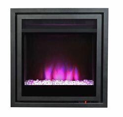 Pacific Heat Full Size Contemporary Electric Fireplace Insert - Metallic Grey