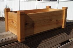Cedar Flower Deck Rail Floor Planter 24