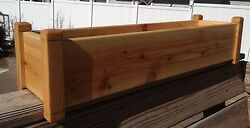 Cedar Flower Deck Rail Floor Planter 36