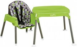 Evenflo - Convertible High Chair Dottie Lime boys and girls plastic brand new