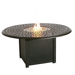 Fire Pit Table Outdoor Propane Fireplace Burner Deck Furniture Backyard Heater