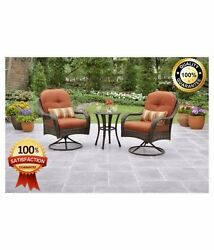 Bistro Outdoor Set Patio Furniture Chairs Chair Garden Table Folding Piece set 3