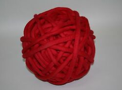 2kg Coloured Merino felted super chunky Nundle wool vine knitting Red