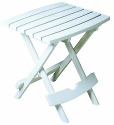 Quik-Fold Side Table White complement patio chairs adirondacks or chaise loung