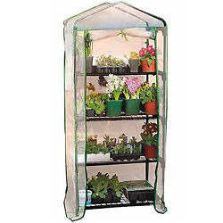 4 Tier Greenhouse Mini OutdoorIndoor Garden Plant Growhouse with PVC Cover