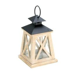 COLONIAL HEIGHT WOODEN LANTERN 10015423