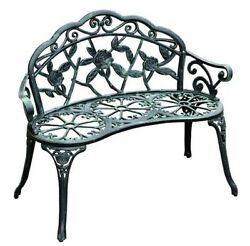 Garden Bench Vintage Cast Iron Metal Patio Furniture Antique Style Park Chair