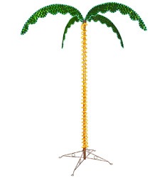 7 Ft Tropical LED Rope Light Palm Tree Garden Patio Yard Holographic Lighting