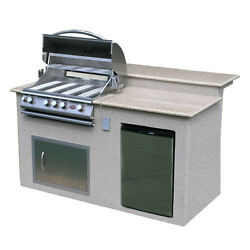 Outdoor BBQ Grill Island Stainless Steel Refrigerator Barbecue Backyard Kitchen