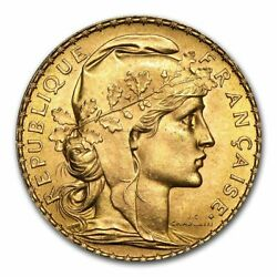 SPECIAL PRICE France Gold 20 Francs French Rooster AU Random $364.69