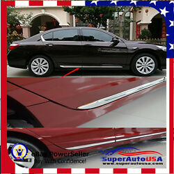 for Honda Accord 13-17 Chrome Side Body Door Moulding Lid Cover Trim Plate Kit