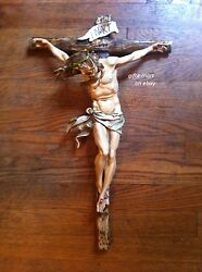 CRUCIFIX JESUS Statue LARGE 20quot; Wall CROSS Big Christian Religious crucifix $54.00