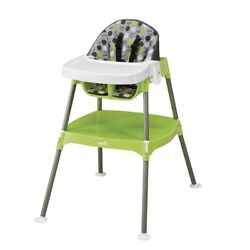 Baby Girl High Chair Food Portable Toddler Convertible Dottie Lime Plastic Table