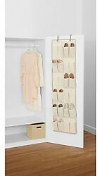 Real Simple 24-Pocket Over-the-Door Shoe Organizer in Natural