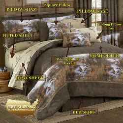 Duck Approach Country Cabin Comforter & Sheet Bedding Set (Twin Size)