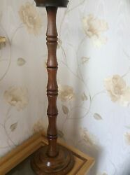 rare  candle holder made from R.M.S MAURETANIA teakwood from the captains cabin