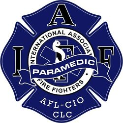 4quot; IAFF Decal Paramedic Exterior Mount PLEASE READ AUCTION