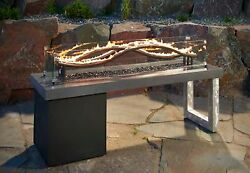 Outdoor GreatRoom Company The Wave Fire Pit Modern  Contemporary Fire Feature
