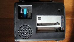 IBM 274 VINTAGE DICTATING UNIT in leather case with owner's manual