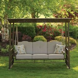 Gazebo Swing Outdoor Patio Furniture Sofa Bench Deck Soft Cushions Covered New