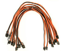 8 pack 6 pin PCI to 62 pin male to male PCI cable 24 inch length 16 AWG UL 1007 $38.99