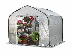 FarmHouse 9 ft. x 9 ft. Pop-Up Portable Greenhouse Home Plant Shelter Garden