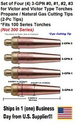 PropaneNatural Gas Cutting Tip 3-GPN #0123 for Victor Type Torch -4 Tips-2pc