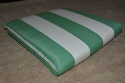 4 NEW FRONTGATE SUNBRELLA STRIPE OUTDOOR REPLACEMENT PATIO DINING CHAIR CUSHIONS