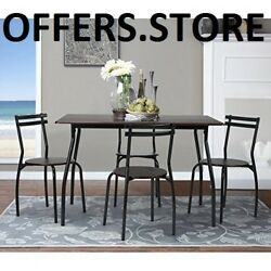 Patio Dining Set 5 Pieces Table And Matching Chairs Kitchen High Quality Indoor