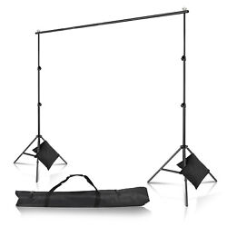 New 10Ft 2m Adjustable Background Support Stand Photography Video Backdrop Kit $25.65