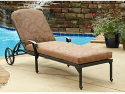 Home Furniture Aluminum Patio Deck Outdoor Chaise Lounge Chair With Cushion New