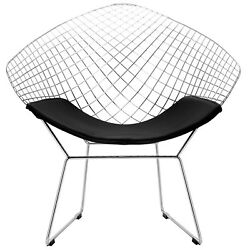 Home Outdoor Furniture Chrome Steel Letherette Seat Pad Morph Lounge Chair New
