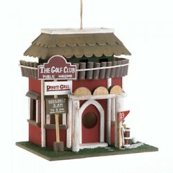 NEW Decorative BIRDHOUSES Golf Course Clubhouse Wooden Outdoor Gifts for Golfers