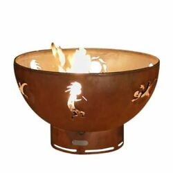 Kokopelli Electronic Fire Pit with Brass Burner - NG