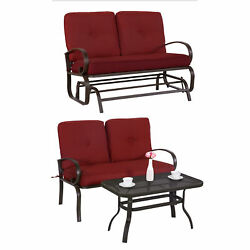 3PC Outdoor Furniture Garden Patio Wrought Iron Conversation Set Chairs w Table