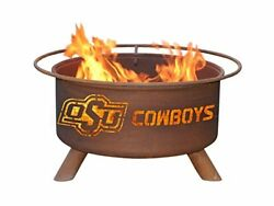 Copper Colored Products Inch Oklahoma State Fire Pit Your Titan Pits Grilling