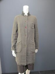 GET LOST long jacket  coat NEW has worn & used aspect linen cotton wool...