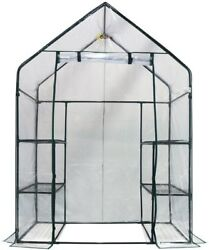 3-Tier 6 Shelf Portable Mini Greenhouse Walk-In Durable Display Floorless Design
