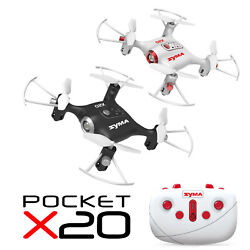 SYMA X20 Mini RC Quadcopter Pocket Drone 2.4Ghz 4CH Altitude Hold Headless Mode $18.98