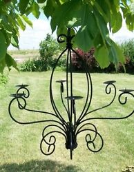 Wrought Iron Celian Candle Chandelier Candelabra $97.95
