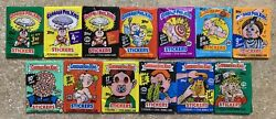 1986-88 Garbage Pail Kids 13-Unopened Wax Pack Lot 3rd-15th Series-NICE LOT! TWT $63.99