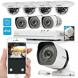 Security Surveillance Camera System HD 8CH Network Outdoor Indoor 1TB Hard Drive