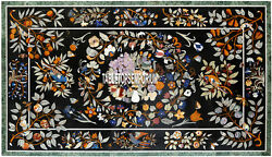 8'x5' Marble Beautiful Multi Floral Dining Table Top Marquetry Inlay Patio Decor