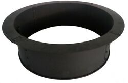 34 In Solid Steel Fire Ring Black Durable Construction Outdoor Backyard Large