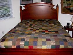 VTG Handcrafted 100% Pure New Wool Patchwork Blanket by Hanna Hats Ireland RARE