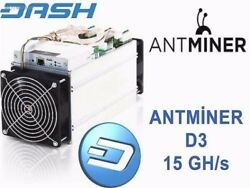 ANTMINER D3 - 15GHs DASH - NOW $2099 - Ready to Ship Today - FREE PS