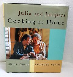 Julia & Jacques Cooking at Home HC wDust Jacket 1999 Manufactured  USA 1st Ed.