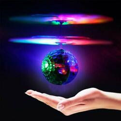 Geekercity Mini Flying RC Drone Helicopter Infrared Induction LED Remote Ball Mi $16.11