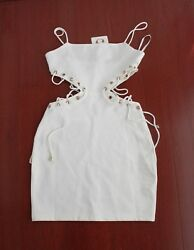 Sabo Skirt White Cutout Bodycon Dress in XS $60.00