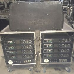 (9) EAW JH15 Stage Monitor Package QSC Powerlight 1.6HVX Amps Speakers Wedges